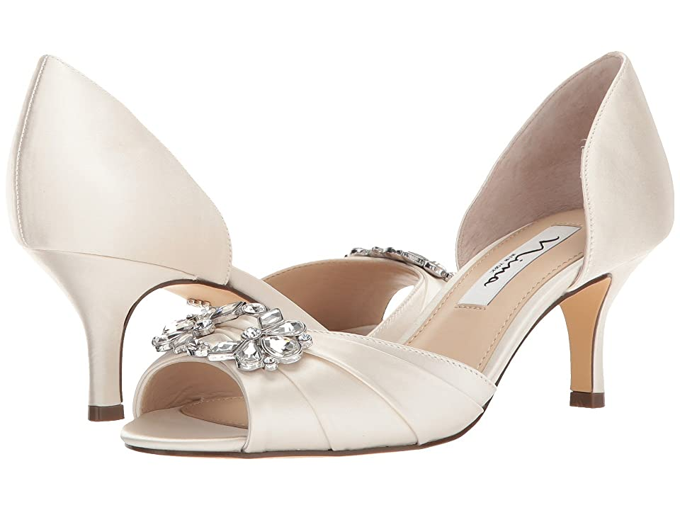 Nina Charisa (Ivory Crystal Satin) High Heels