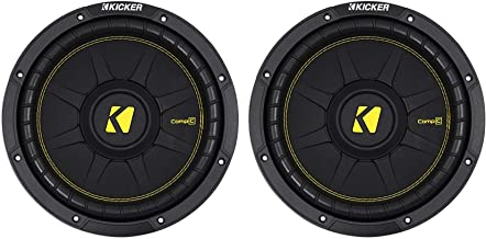 """2) KICKER 44CWCD104 CompC 10"""" 1000w Dual 4-Ohm Car Audio Subwoofers Subs CWCD104"""