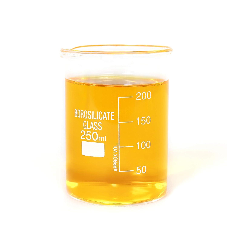 250 ml Glass Beaker Borosilicate Form 250ml Thick Low Detroit Over item handling ☆ Mall