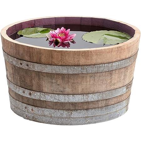 Jardin Jardiniere Pot Recyclé Authentique Grand solide demi whisky Plant Chêne Baril