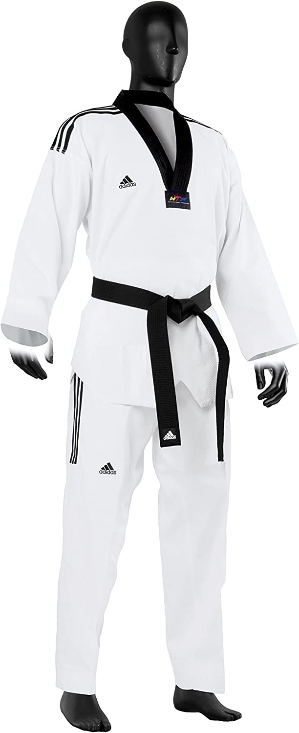 Adidas Grand Master Taekwondo Uniform with 3 Stripe