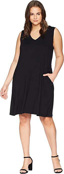 Plus Size Sleeveless Pocket Dress