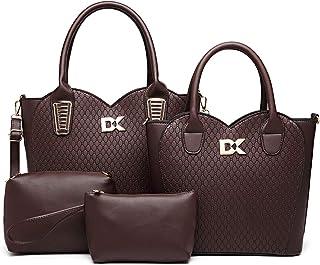 Diana Korr Women's Shoulder Bag with Handbag (Purple) (Set of 4)