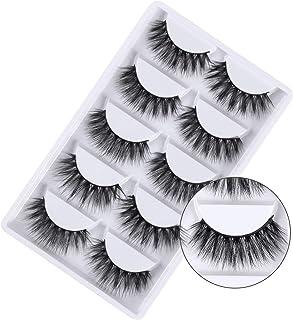 3D False Eyelashes, 3D Faux Mink Fake Eyelashes Handmade Dramatic Thick Crossed Cluster False Eyelashes Black Nature Fluff...