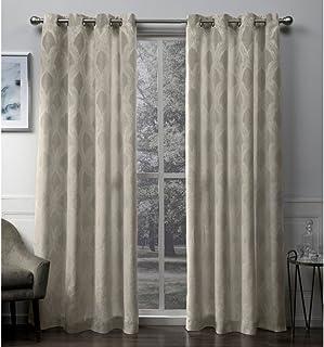 Exclusive Home Curtains Dorado Grommet Top Panel Pair, Natural, 54x96, 2 Piece
