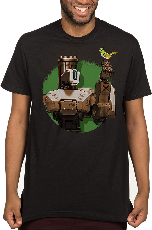 JINX Overwatch High material Peacekeeper Bastion Gamer Graphic T-Shirt Men's Department store