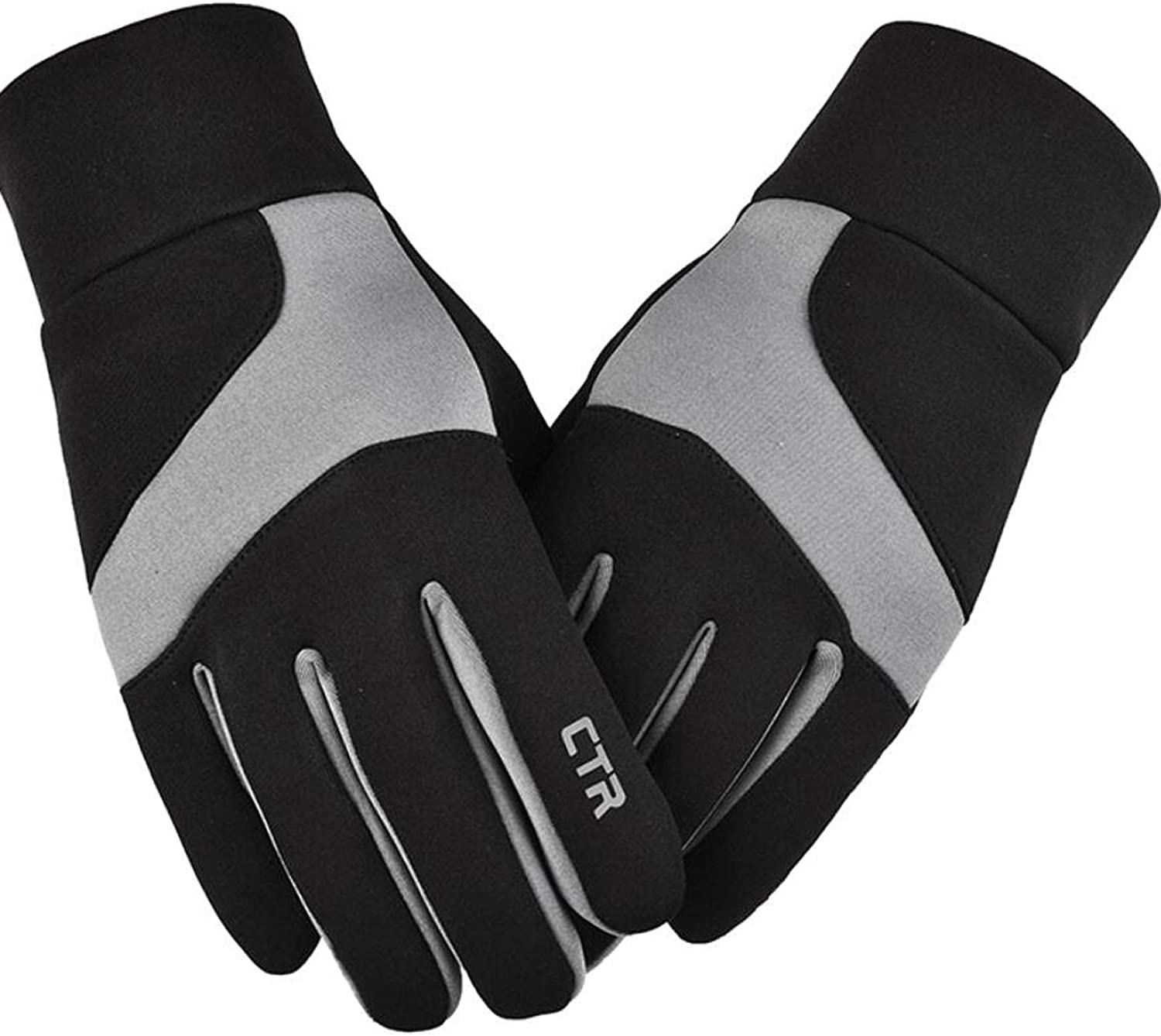 Winter Outdoor Waterproof and Warm Touch Screen Gloves, Men's and Women's Cycling Gloves, Shock Absorption, Anti-skid, Windproof and Warm Fitness Outdoor Gloves.