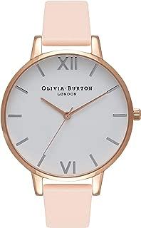Olivia Burton Women's Quartz White Dial Big Dial analog Display and Leather Strap, OB16BDW21