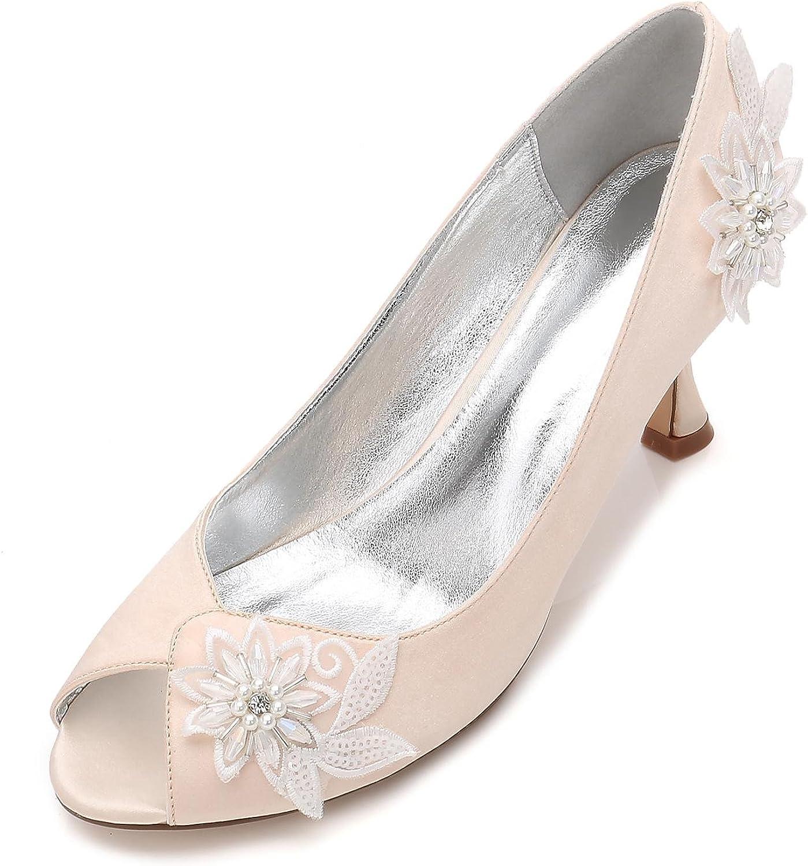 L@YC Damen High Heel Perlen Blaume Plattform Blaume Hochzeit Braut Braut Prom Abend Schuhe Größe  rücksichtsvoller Service