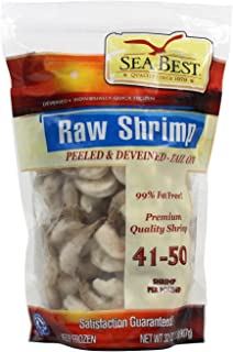 Sea Best 41/50 Count Peeled and Deveined Tail On Shrimp, 2 Pound