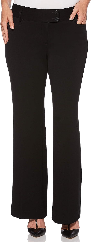 Rafaella Women's Curvy Fit Gabardine Boot Leg Pant