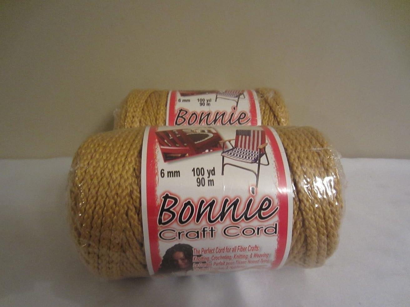 Bonnie Macrame Craft Cord 6mmx100yd-Gold