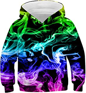 AIDEAONE Boys Girls 3D Print Casual Pullover Hoodies