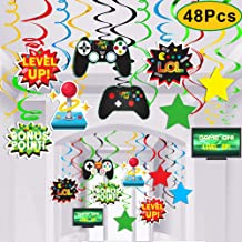 Video Game Party Supplies,Video Game Decor Hanging Swirl Decorations for Video Game Birthday Party Supplies Decorations-48PCS