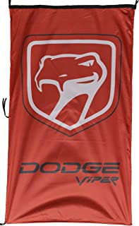 DOD-GE Viper Vertical RED Flag Banner 3 X 5 ft