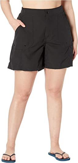 Plus Size Solids Woven Long Boardshort
