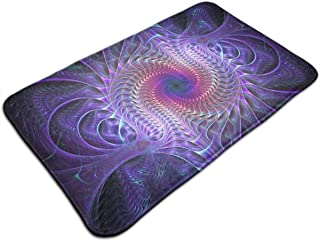 Emliyma Indoor Outdoor Super Water Absorption Purple Tie Dye Psychedelic Trippy Doormat for Front Door Inside Floor Bath Mats Non-Slip Entrance Rug 19.7x31.5 Inches
