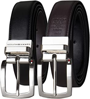 Men's Interchangable Buckle and Reversible Belt Boxed Set