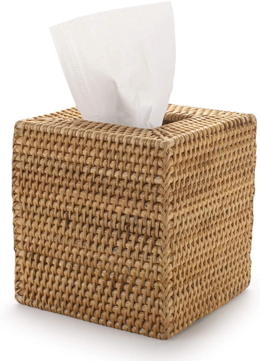 YANGQIHOME Square Rattan Tissue Box Wicker Super beauty product restock quality top! Hand Tis Cover Woven Max 59% OFF