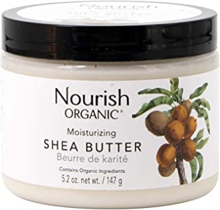 Nourish Organic Intensely Moisturizing Fair Trade Shea Butter, 5.5 Ounce (Packagin may vary)