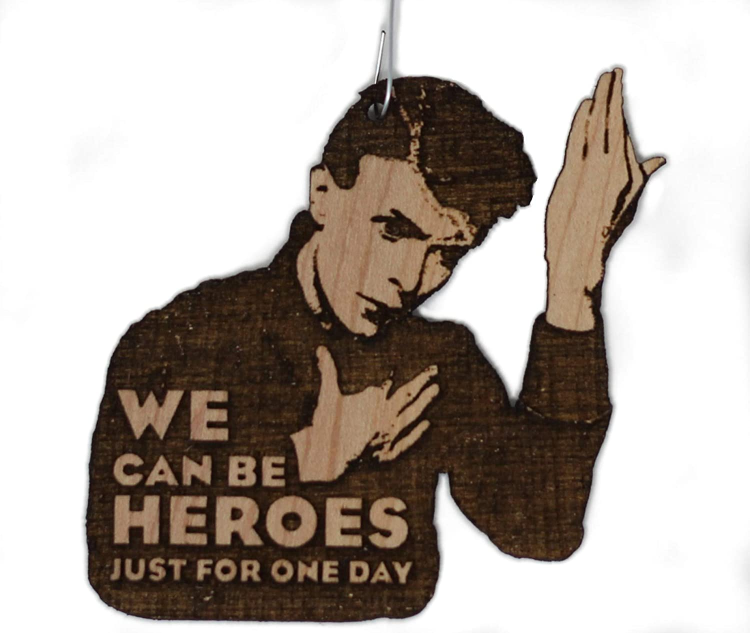 We Can Be Heroes Christmas Made Spring new work Ornament Department store Wood Rear Hand