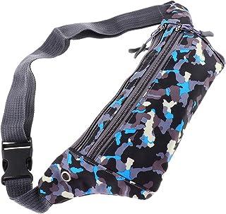 kesoto Waterproof Running Belt Gym Fitness Travel Waist Pouch Bum Bag Men Women - Blue