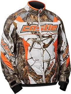 Castle X Bolt Realtree G4 Mens Snowmobile Jacket Snow - Orange - MED