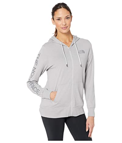 The North Face Lightweight Tri-Blend Full Zip Hoodie (TNF Light Grey Heather) Women