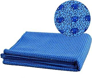 CXQ Yoga Blanket Non-Slip Silicone Cloth Towel Green Thickening Yoga Mat Towel Towel Sweat Blanket (Color : Dark Blue)