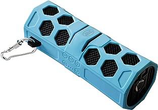 AquaSound Waterproof Bluetooth Speaker with Micro SD Card Slot and Aux Port, Aqua Blue