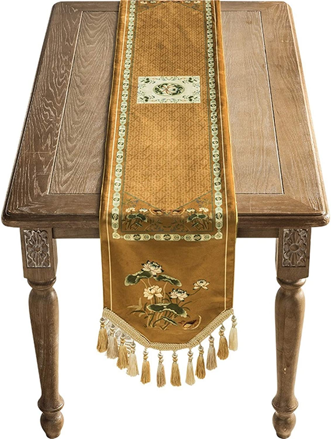 WZHONG Light Animer and price revision Cloud Lotus Chinese Table Runner Luxury D New popularity Flag Bed
