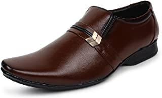 BUWCH Men Formal Black Patent Leather Mocassin Shoe