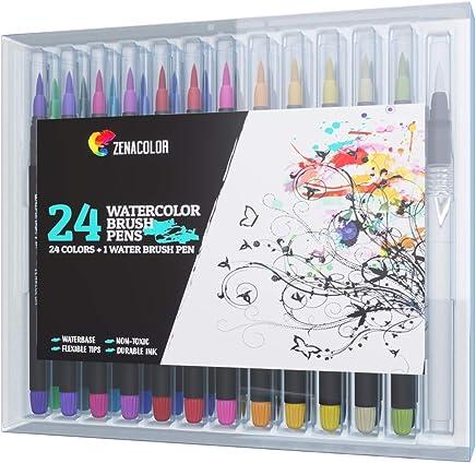 FLOWood Pinselstift Set 20 1 Brush Pen Set 20 Aquarellstifte 1 Wassertankpinsel ungiftig ideal f/ür Kinder Kalligraphie Malen Zeichnen