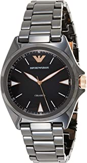 Emporio Armani Men's Black Dial Ceramic Analog Watch - AR70003