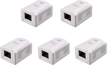 [UL Listed] Cable Matters (5 Pack) Cat6 RJ45 Surface Mount Box - 1 Port in White