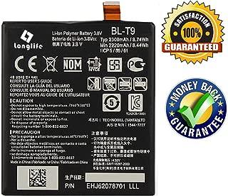 LONGLIFE Replacement Battery Compatible for Google Nexus 5 LG D820 D821 2300mAh Replacement Battery BL-T9 3.8V 8.74Wh Batería de repuesto
