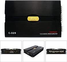 YaeCCC C-328 12V 4 Channel Powerful Car Audio Amplifier Bass AMP Aluminum Alloy