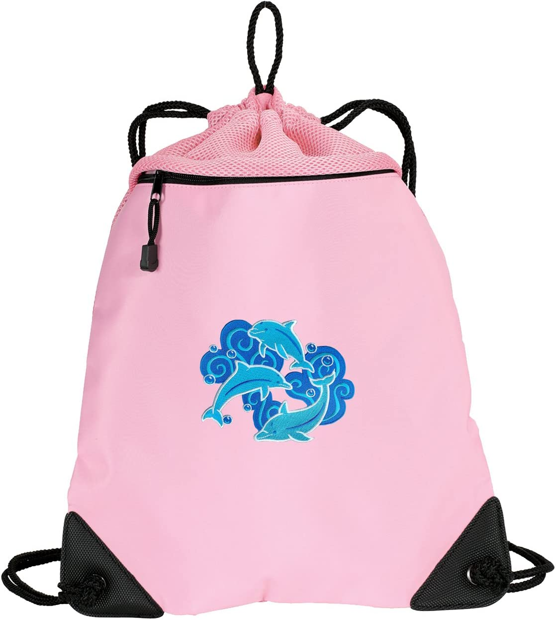 Cute Dolphins Drawstring Backpack Ladies Dolphin It is very popular - Chicago Mall UNI Bag Cinch