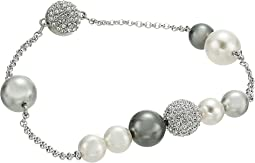 Swarovski Remix Collection Mixed Gray Crystal Pearl Bracelet