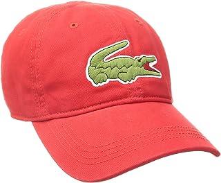 Lacoste Men's Classic Large Croc Gabardine Cap, Red, One Size