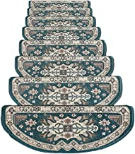 JIAJUAN Stair Carpet Treads Non Slip Adhesive Mat Large Stair Step Rug, 3 Colors, 4 Sizes, Customize (Color : Blue-5 pcs, ...