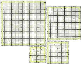 4-delige acryl quiltliniaal, eenvoudige verwijdering, vierkante quiltlinialen om nauwkeurig snijden te bevestigen,