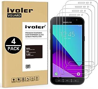 ivoler [Pack de 4] Verre Trempé pour Samsung Galaxy Xcover 4S / Samsung Galaxy Xcover 4, Film Protection écran en Verre tr...