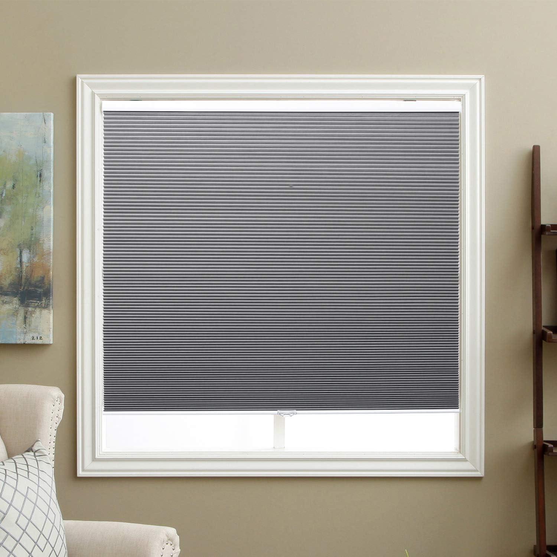Cordless Cellular Shades half Blackout Fabric Blinds Window Honeycomb half