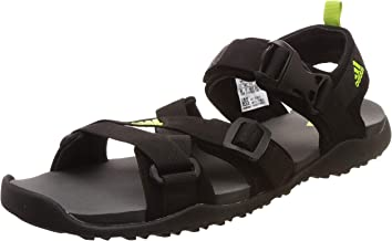 Adidas Men's Gladi M Cblack/Sslime/Visgre Sandals-9 UK/India (43.3 EU) (CK9821)