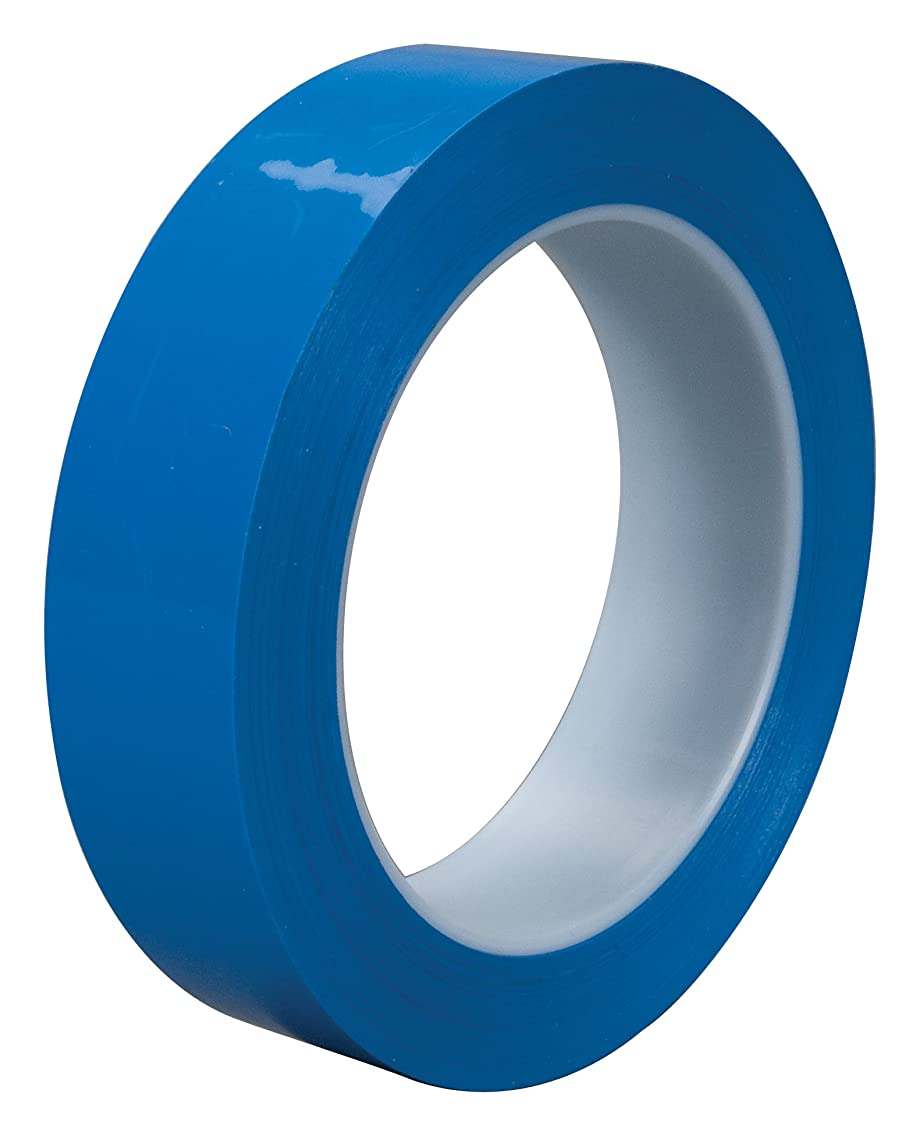 3M Polyethylene Film Tape 483 Blue, 1 in x 36 yd 5.3 mil, Conveniently Packaged (Pack of 1)