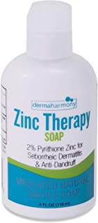 DermaHarmony 2% Pyrithione Zinc (ZnP) Liquid Castile Soap (4 Fl Oz Bottle)