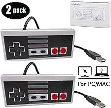 Mekela 2 Packs 5.8 feet Classic USB wired Controller for NES Gaming, Retro Game Pad Joystick Raspberry Pi Gamepad for Windows PC Mac Linux RetroPie NES Emulators (Gray and Gray)