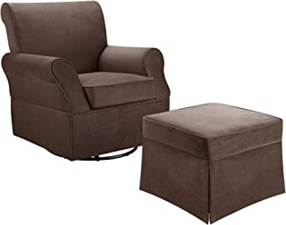 Baby Relax Kelcie Swivel Glider and Ottoman, Comet Coffee Commet Coffee