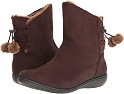 Dark Brown Faux Suede